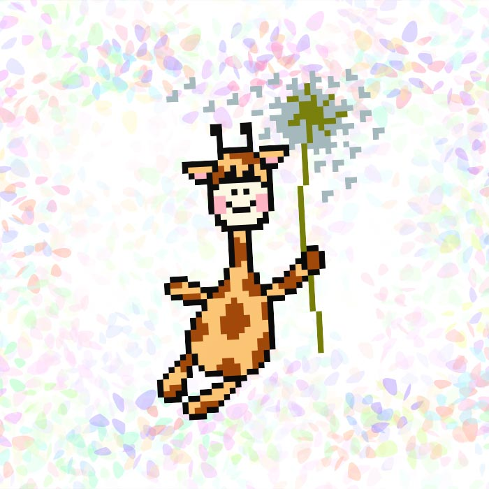 K125 — Жирафа на кульбабці