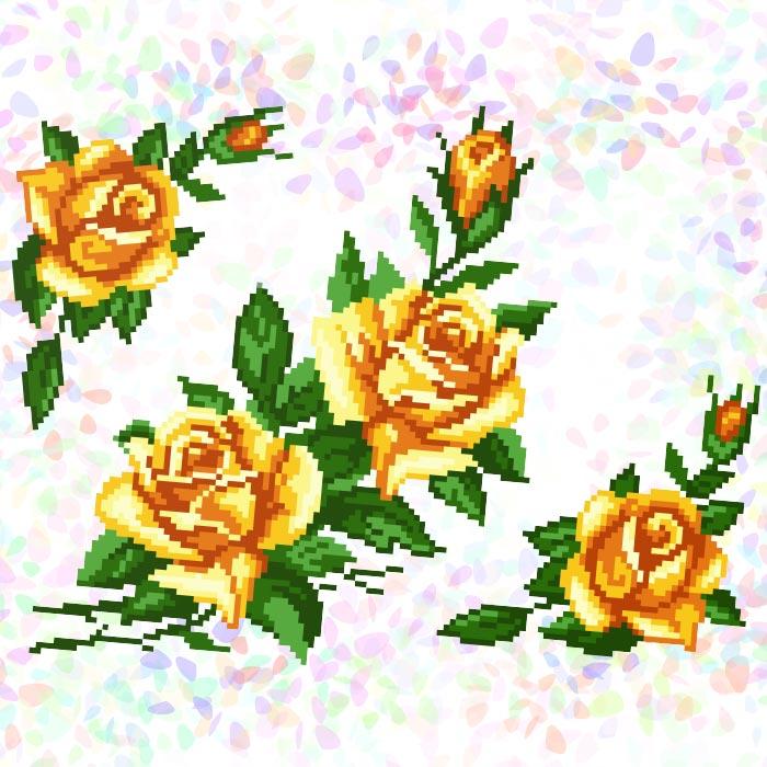 K208 — Жовті троянди (3 фраґменти)