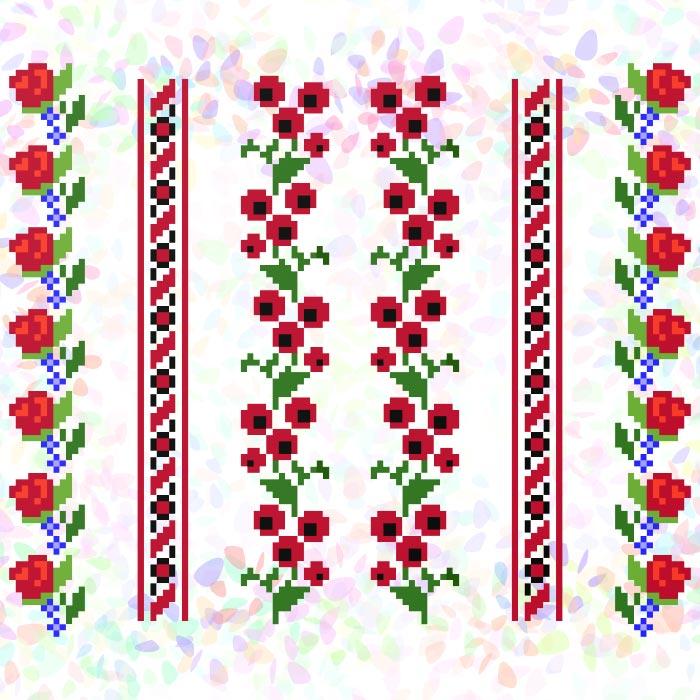 K241 — Квіткові візерунки (6 фраґментів)