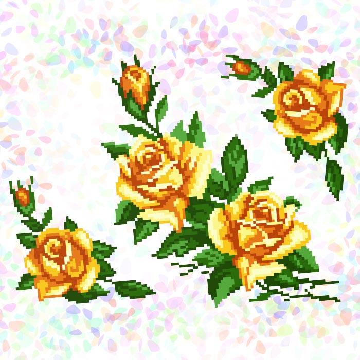 K248 — Жовті троянди (3 фраґменти)