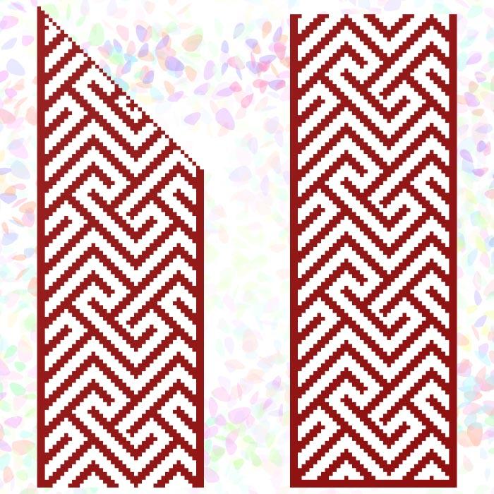 K261 — * Червоний орнамент (2 фраґменти)