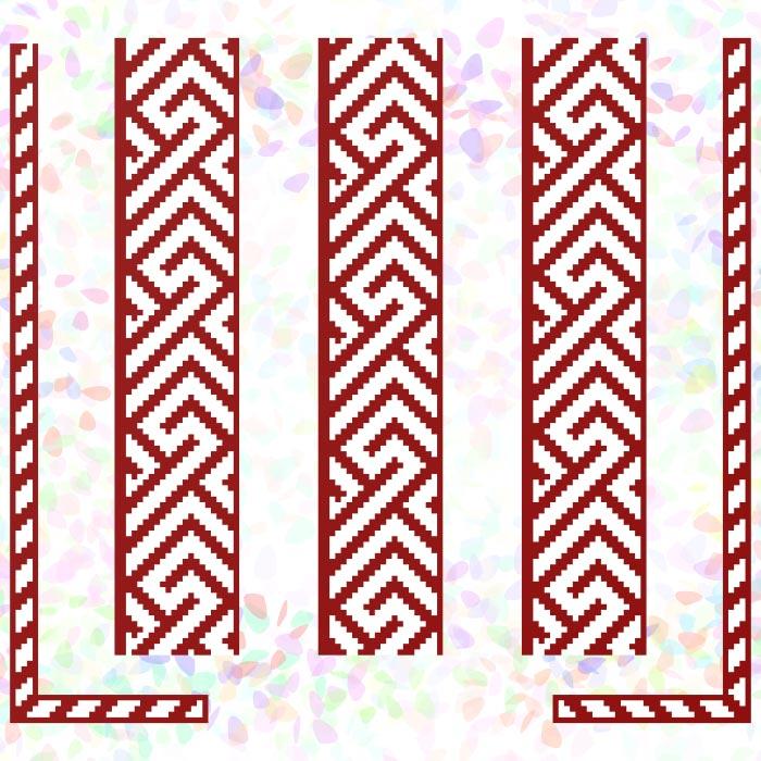 K262 — * Червоний орнамент (2 фраґменти)