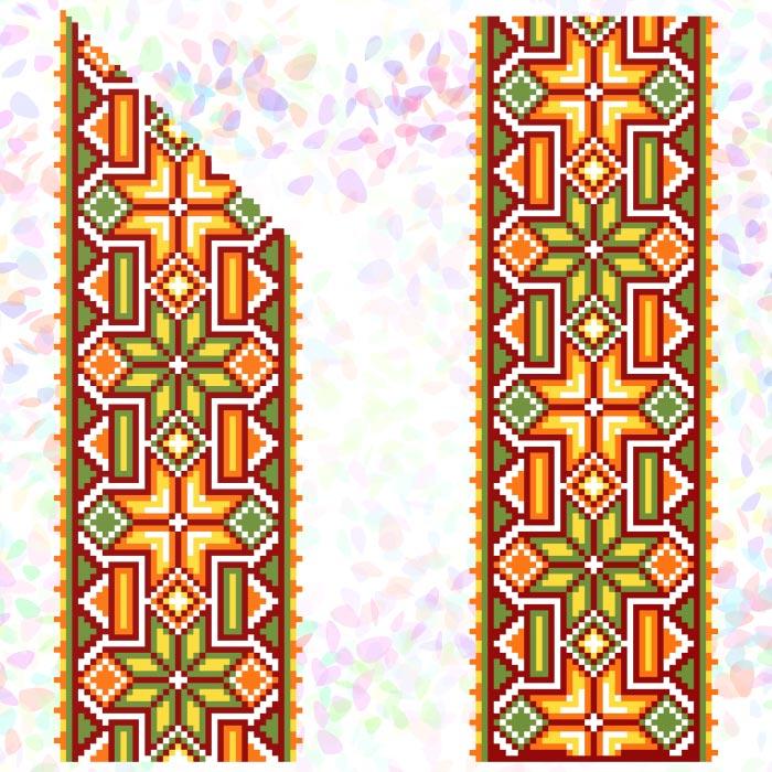 K265 — Гуцульський орнамент (2 фраґменти)