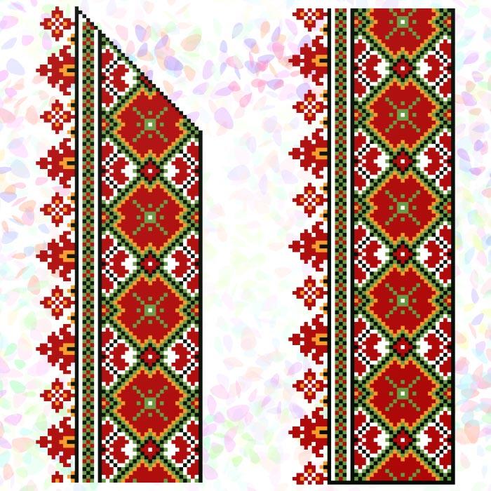 K268 — Гуцульський орнамент (2 фраґменти)