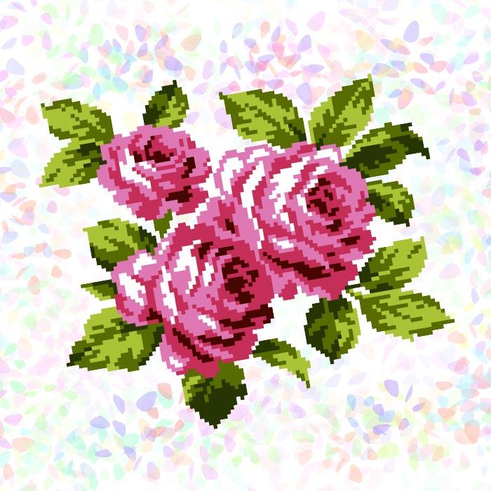 K302 — Букет троянд (1 фраґмент)