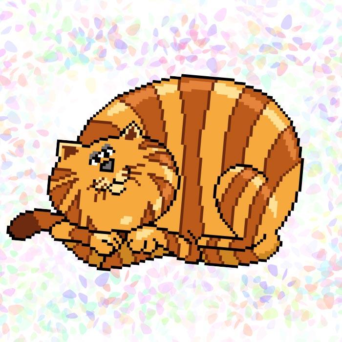 K322 — Смугастий кіт (1 фраґмент)
