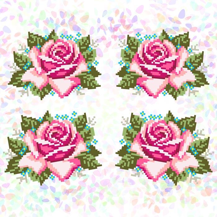 K341 — Троянди (4 фраґменти)