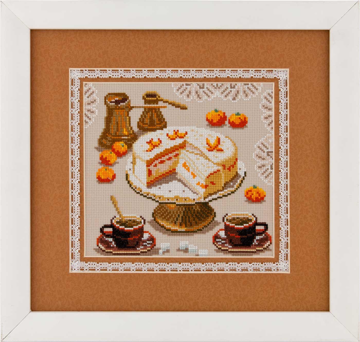 N2109 — Торт, мандарини і кава